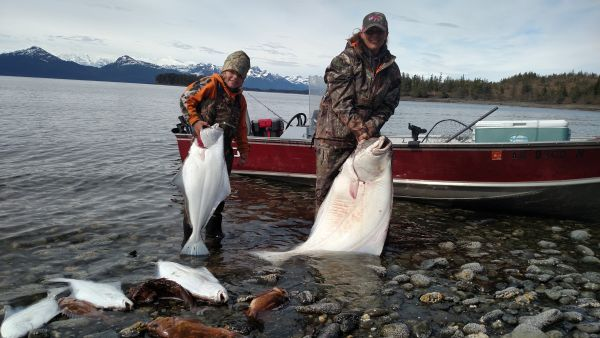 Successful halibut fishing with the family