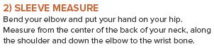 Tips for measuring sleeve length