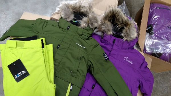 Strikeforce Green and Purple Winter Jacket for Youth