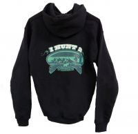 Black and Teal Girls Hoodie