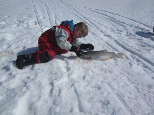 lake trout ice fishing