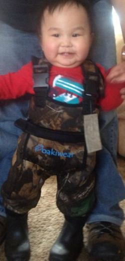 Cute little 2T Oakiwear chest waders