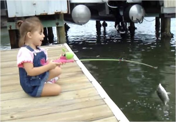 Little girl and her big catch