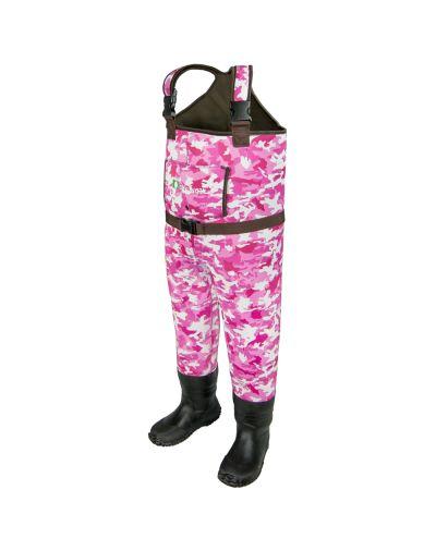 Oakiwear Girls Pink Neoprene Chest Waders